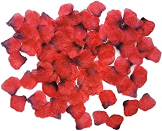 TECHSHARE 2000 Pieces Silk Rose Petals for Wedding Flowers Home Party Romantic Night Anniversary Valentine's Day