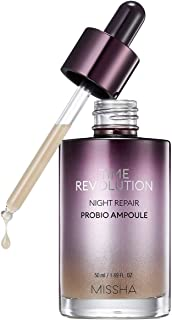MISSHA Time Revolution Night Repair Probio Ampoule 50ml - Whitening Brightening Facial Ampoule with Fermented Bifida, Lact...
