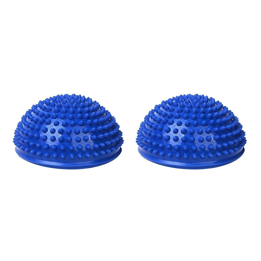 曲げる不屈マガジンPerfeclan 足裏用 マッサージ バランス ボール マッサージボール 半球型 2個セット