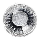 NLGToy False Eyelashes 3D Fluffy Lashes Natural Full Volume Fake Eyelashes,100% Siberian 3D Mink Fake Lashes Cruelty-Free False Lashes Pack,1 Pair (Black)