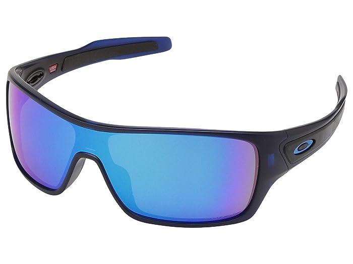 Oakley Turbine (Matte Transparent Blue w/ PRIZM Sapphire) Sport Sunglasses