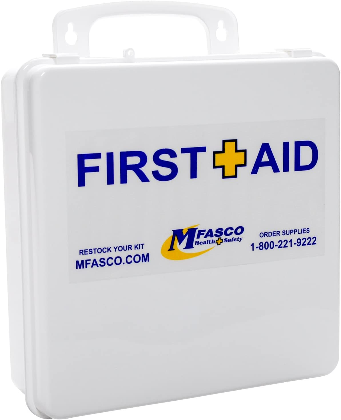 OSHA Class A Limited price sale Restaurant First Aid Plastic Kit with Bandages Blue trust