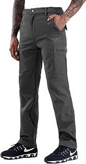 ZOEREA Pantalones de Senderismo para Hombre Invierno Grueso