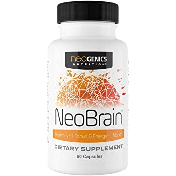 NeoBrain Focus Pills for Brain Focus Mood Booster Natural Energy - 30 Servings of Memory Pills for Brain Focus Supplement and Cortisol Blocker for Women and Men - by Neogenics Nutrition®