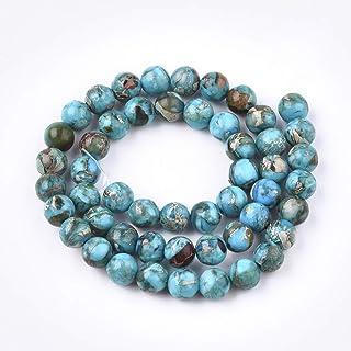Perline Di pietra Imperatore Naturale Da 8mm Fili Di Perline Rotonde Imperatore Sciolti Utilizzati Nella Creazione Di Gioi...