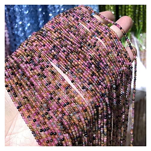 Joyas para mujeres Piedra Natural Pequeñas Cuentas Redondas Color Turmalina 2mm Perlas Espaciadoras Sueltas Para La Fabricación De Joyas BRICOLAJE Accesorios De Pulsera De Collar Al Menos Comprar Cinc