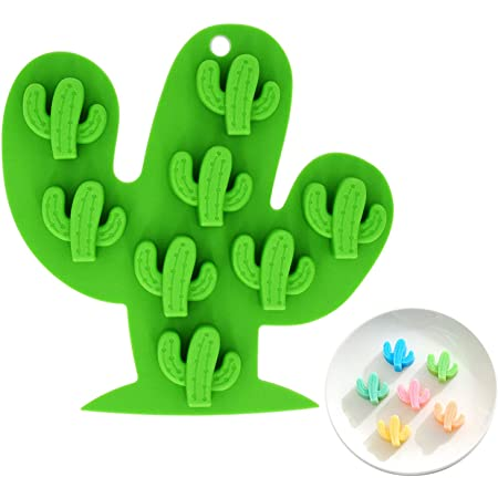 Handmade Silicone Mold Mould for deco sugar chocolate dessert ice resin candle wax clay plaster diffuser soap 3D Cactus Mini #1 2cavity