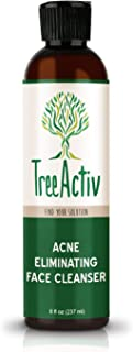 TreeActiv Acne Eliminating Face Cleanser | Natural Facial Treatment Cleansing Skin Wash | Castile Soap.