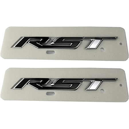 2pcs Generation RST Tailgate Emblem Badge Letter Inserts Replacement For 2019 2020 2021 Chevy Silverado Chevrolet 1500 Tahoe Yukon SUV 4x4 Matte Black