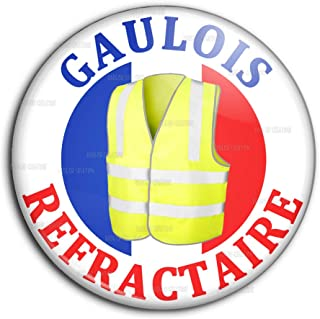 Badge Pins Dor/é 20mm Gilets Jaunes Occitanie Occitan Sud Soutien Mouvement 2018 Contestation