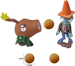 Action Figures for 3 Year Up Kids Pop Mobile Game Characters Plants vs Zombies Shooting Game Toy Set with Coconut Cannon a...