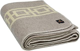 Thick Alpaca Wool Blanket – Heavyweight Alpaca Wool Blanket for Camping Outdoors or Using Indoors | Soft Peruvian Alpaca Wool Blankets Twin Queen King Sizes Fit Any Need (Beige - Ivory, Queen)