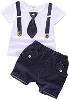 BibiCola Toddler Baby Boys Clothes Summer Kids Cute Outfit Clothing Star T-Shirt & Shorts Pants 2PCS
