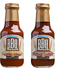 Nature's Hollow, Sugar-Free BBQ Sauce Variety Pack, Honey Mustard and Hickory Maple 10 Ounces Each, Non GMO, Keto Friendly, Vegan and Gluten Free - 2 Pack