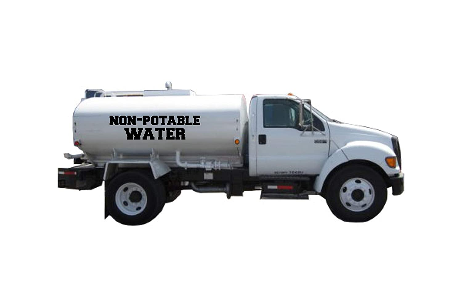Non Potable water Truck decal sticker Select set In a popularity San Antonio Mall fo size