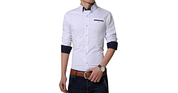 RomantcMen Plus Size Pure Colour Skinny Business Tee Polo Shirt