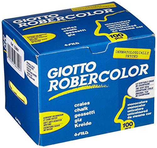 Giotto 5396 01 - RoberColor Wandtafelkreide, Karton mit 100 Stück, gelb