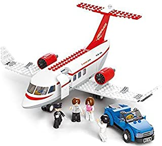 Sluban Concept Plane - 275 Pieces (Brand New in Original English Box) 100% LEGO Compatible - Educational Toy - Building Bricks (red and white medium size) Aviation Series M38-B0365