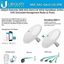 NanoBeam NBE-5AC-Gen2-US 5GHz NanoBeam CPE Dedicated Management Radio Bridge Bandwidth (2 Pack)