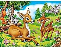 DIY 5Dダイヤモンド塗装石ラインストーンペースト塗装未完成ダイヤモンド刺繍漫画森の動物
