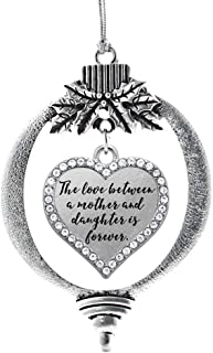 Best Inspired Silver - Mother and Daughter Bond Charm Ornament - Silver Open Heart Charm Holiday Ornaments with Cubic Zirconia Jewelry Review