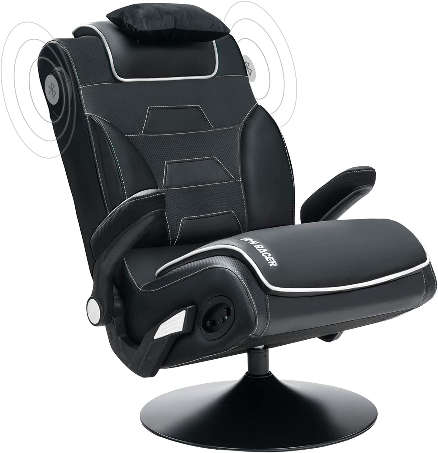 VON RACER Gaming Chair with Video Rocking Bluetooth Gam Speakers Safety and trust Excellent