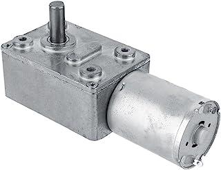 FTVOGUE DC 12V Motor Eléctrico Reductor CW/CCW Motor Sinfín de Alto Par Reversible y Reversible 5/6/20/40/62 RPM(6RPM)