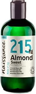 Naissance Mandelöl süß BIO Nr. 215 250ml – 100% rein & natürlich, BIO zertifiziert, kaltgepresst, vegan, hexanfrei, gentechnikfrei Ideal für Massagen, Haut- und Haarpflege.