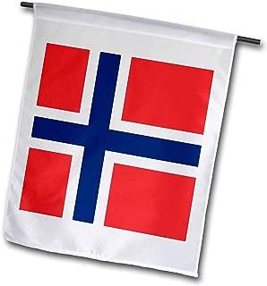 3dRose fl_158399_1 Flag of Norway-Norwegian Red Blue White Scandinavian Nordic Cross-Scandinavia World Country Garden Flag, 12 by 18-Inch