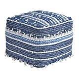 Signature Design by Ashley A1000324 Pouf-Comfortable Ottoman & Footrest-Casual, Anthony Blue
