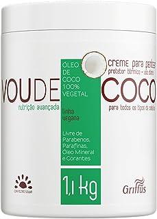 Vou de Coco Creme para Pentear, Griffus Cosméticos, Multicor, 1.1 Kg