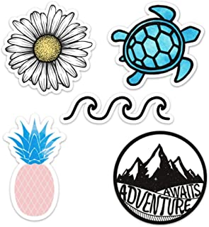 Best Cute Vinyl Laptop and Water Bottle Decal Sticker Pack, Made in US (Ocean/Beach) Review