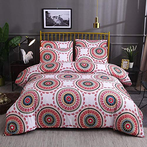 DYWLQ duvet set bed,Bohemian ethnic style bedding,soft fluffy duvet covers with zipper and pillowcase-04_EU_Single