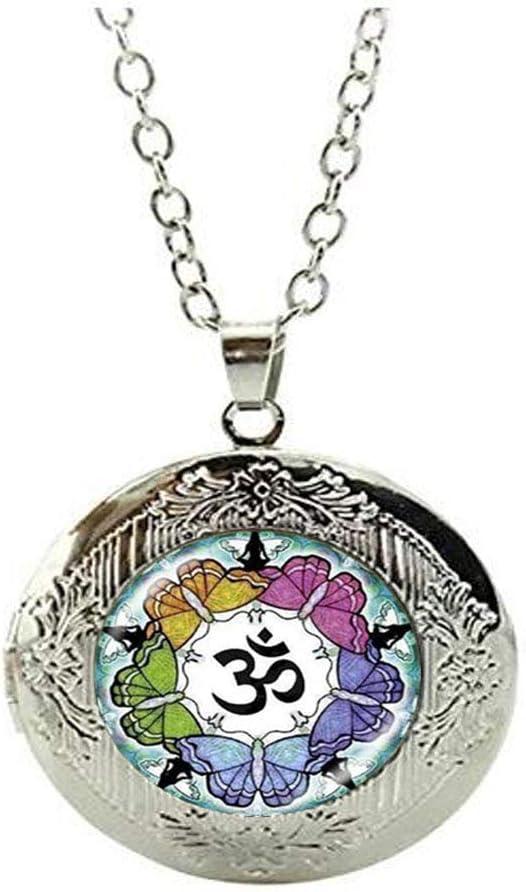Beautiful Mandala Om Glass Locket Necklace Jewelry Art Photo Jewelry Birthday Festival Gift Beautiful Gift