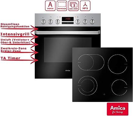 Amica EHC 933 015 E Einbauherd Set | 9 Fach Multifunktion Backofen Mit  Grill Und