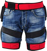 RENNICOCO Pantalones Cortos Acolchados de protección Resistencia a los Impactos de Cadera Butt Pad Respirable Ropa Deportiva para Esquiar en Snowboard Patinaje
