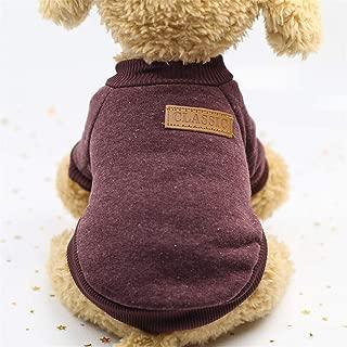 BOOB Pet Soft Cat Dog Shirt Clothes for Small Dogs Cozy Winter Warm Coat Classic Sweater Fleece High-Grade Sweater Sweatshirt