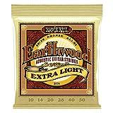 Ernie Ball Earthwood Extra Light Cuerdas de guitarra acústica de bronce 80/20-10-50 Gauge