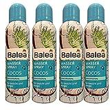 Balea spray per acqua Cocos per viso e corpo. 4 flaconi spray da 150 ml.