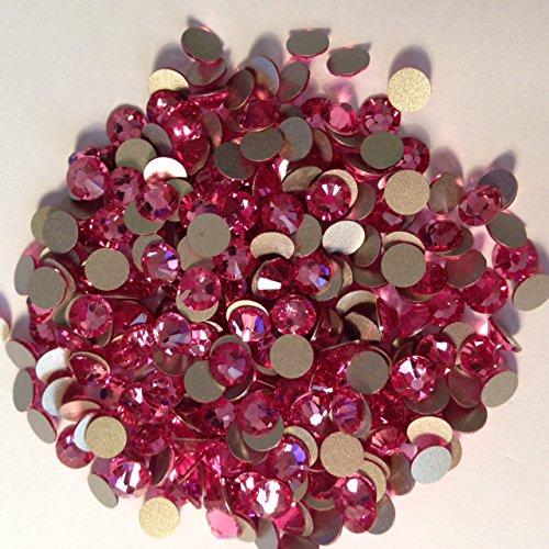 Pack of 70 Swarovski Flatback Glue Fix Rhinestone Gems (Free Swarovski Pendant on orders over £10) (SS9 (2.6mm), Rose)