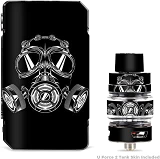 IT'S A SKIN Decal Vinyl Wrap for VooPoo Drag 2 V2 & UForce T2 Tank Vape Sticker Sleeve Cover/Apocalypse Gas Mask