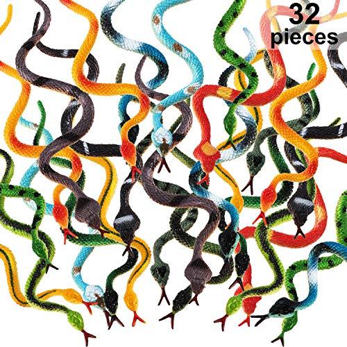 Kunststoff Schlangen Regenwald Schlangen Realistische Gummi Schlange Verschiedene Bunte Gefälschte Schlange Spielzeug für Jungen und Mädchen (32)