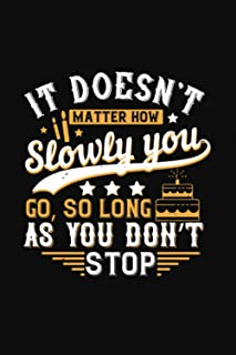 It Doesn't Matter How Slowly You Go So Long As You Don't Stop: Happy Birthday-Bible Study Journal: A Creative Christian Wo...