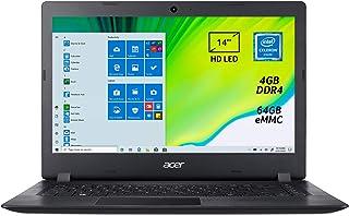 """Acer Aspire 1 A114-32-C2A6 Notebook con Processore Intel Celeron N4020, Ram 4 GB DDR4, eMMC 64 GB, Display 14"""" HD LED LCD,..."""