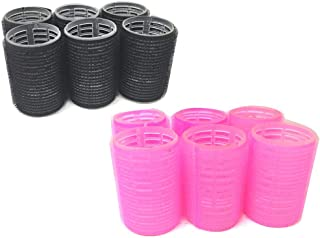 """12PC – X-Large Size (1-1/2"""") Self Stick Grip Hair Rollers Pro Salon Hairdressing Curlers & Lift"""