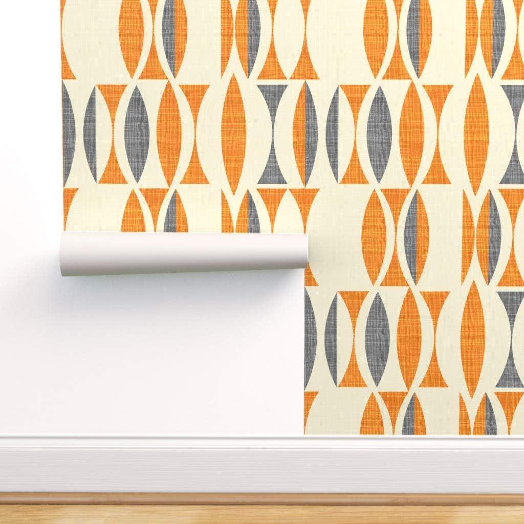 新発売 Spoonflower 《週末限定タイムセール》 Peel and Stick Removable Wallpaper Abstract Geometr
