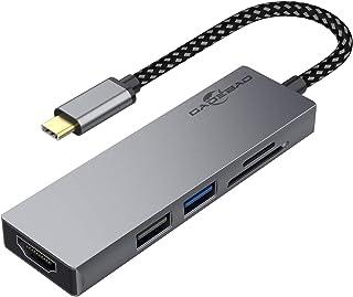 USB C ハブ アダプタ 5-in-1 GADEBAO マルチポート usb ハブ type-c【4K HDMI出力+USB3.0/2.0ポート+SD&TFカード スロット搭載】thunderbolt3対応 type c ハブ MacBook...