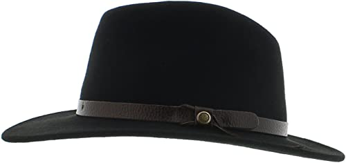 VotrechapeauAmance –Sombrero fedora,fieltro impermeable, color negro