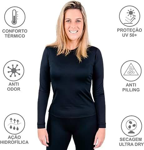 blusa termica feminina na Amazon.com.br