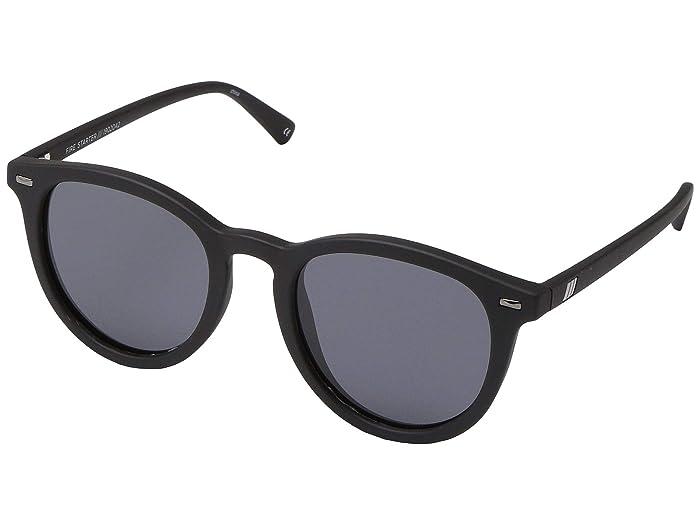 Le Specs Fire Starter (Black Rubber/Smoke) Fashion Sunglasses